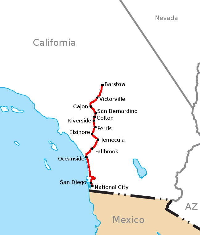 California Southern Map